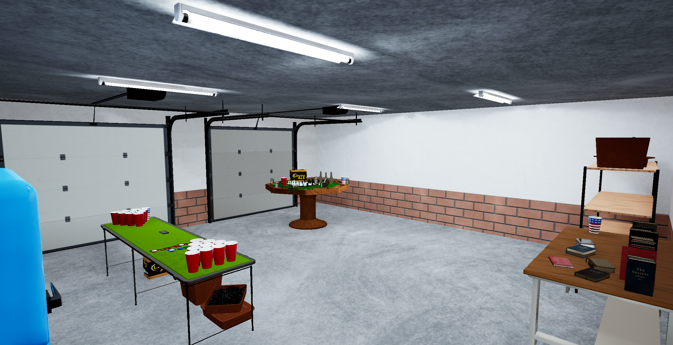 A complete overhaul of lighting and garage. Still a WIP in progress but slowly getting closer.